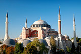 hagia sophia mosque landmark in instanbul turkey