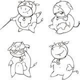 Funny calf cartoons