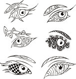 decorative eyes