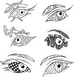 decorative eyes