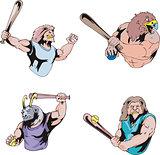 Sport mascots - baseball