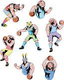 Sport mascots - basketball