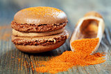 Macaroons with chili powder.