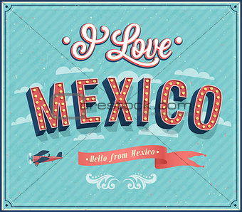 Vintage greeting card from Mexico - Mexico.