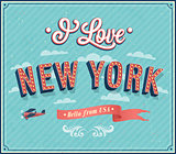 Vintage greeting card from New York - USA.