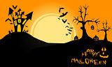 Halloween landscape night