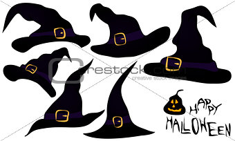 A set of witches hats