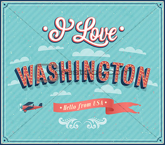Vintage greeting card from Washington - USA.