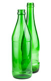 Pair of empty green bottles