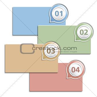 Blank design template with four elemets