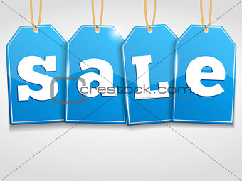 Blue Sale Tags