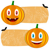 Orange halloween tags