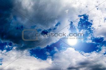 Sky Clouds with Sun