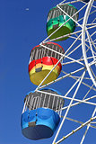 Vivid Ferris Wheel and Moon