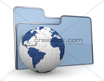 folder icon world