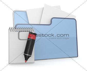 folder icon text