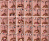 Details of large facial expressions