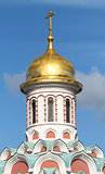 Dome of the church of the Kazan Kremlin in Moscow