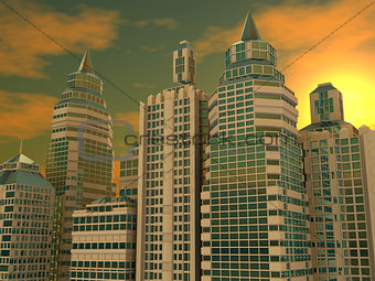 Skyscrapers. Background