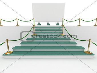 climb on a pedestal