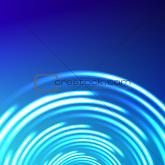 Vector abstract circle blue background