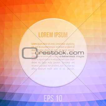 Abstract Vector Background With Orange And Blue Triangles