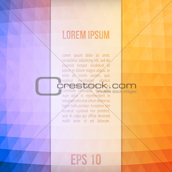 Abstract Vector Background With Triangles And For Text