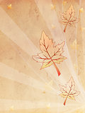 retro beige old paper autumn background