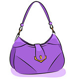 Vector. Women's purple handbag