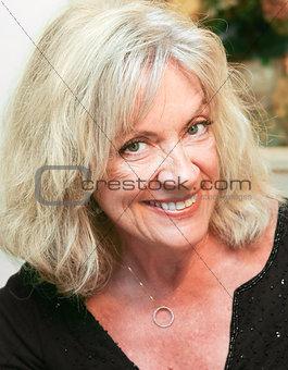 Portrait of Mature Beautiful Woman