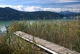 Wharf and lake