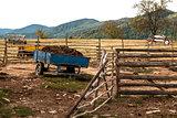 Mountain farm yard