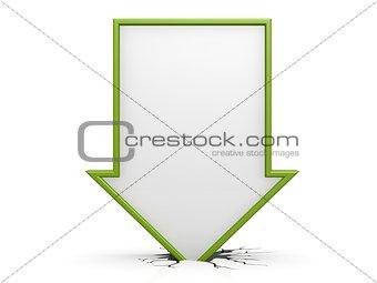 Green straight arrow down