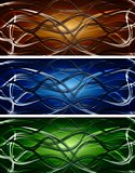 Dark waves vector banners