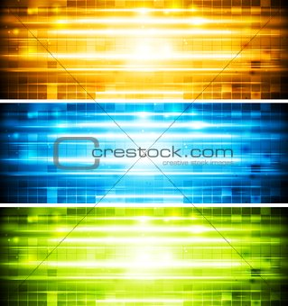 Abstract shiny vector banners