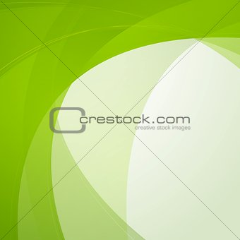 Bright green waves vector design