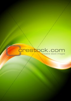 Green and orange vector waves