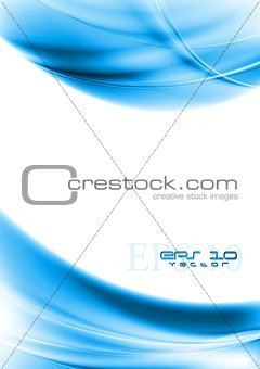 Bright blue vector wavy design