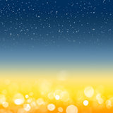 Night sky and bokeh background
