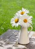 Fresh chamomile bouquet in vase