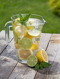 Pitcher with homemade lemonade