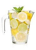 Pitcher with homemade lemonade