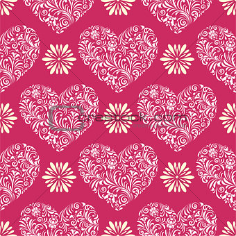 abstract florall  hearts