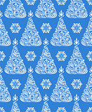 pattern with abstract christmas trees