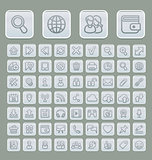 Universal Web Icons Set Soft Grey Edition