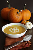 Festive homemade pumpkin soup