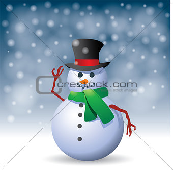 Snowman - Illustration