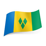 State flag of Saint Vincent and the Grenadines.