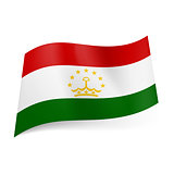State flag of Tajikistan.