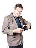 Businessman Holding Wallet